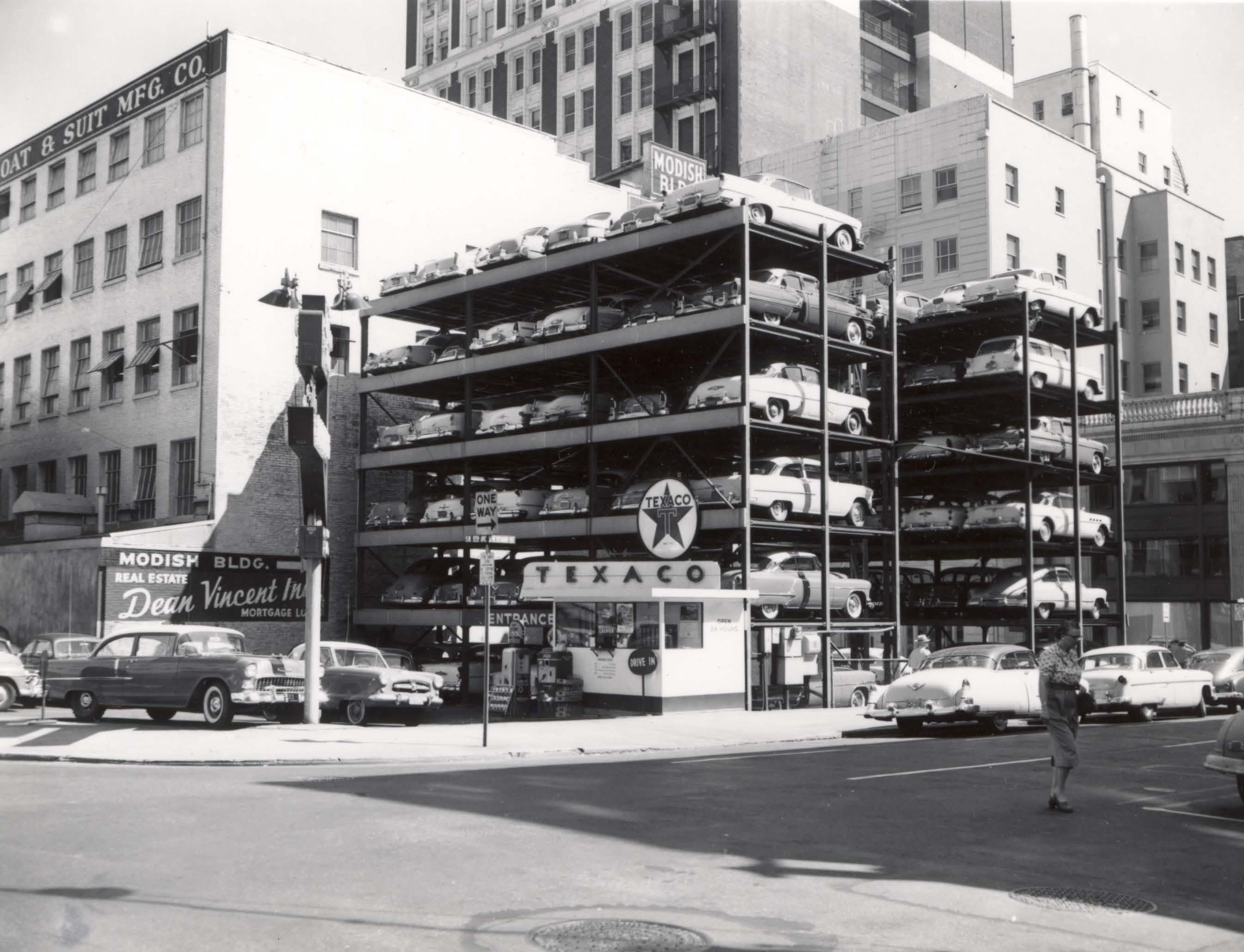 Pigeon Hole Parking 1955 Vintage Portland
