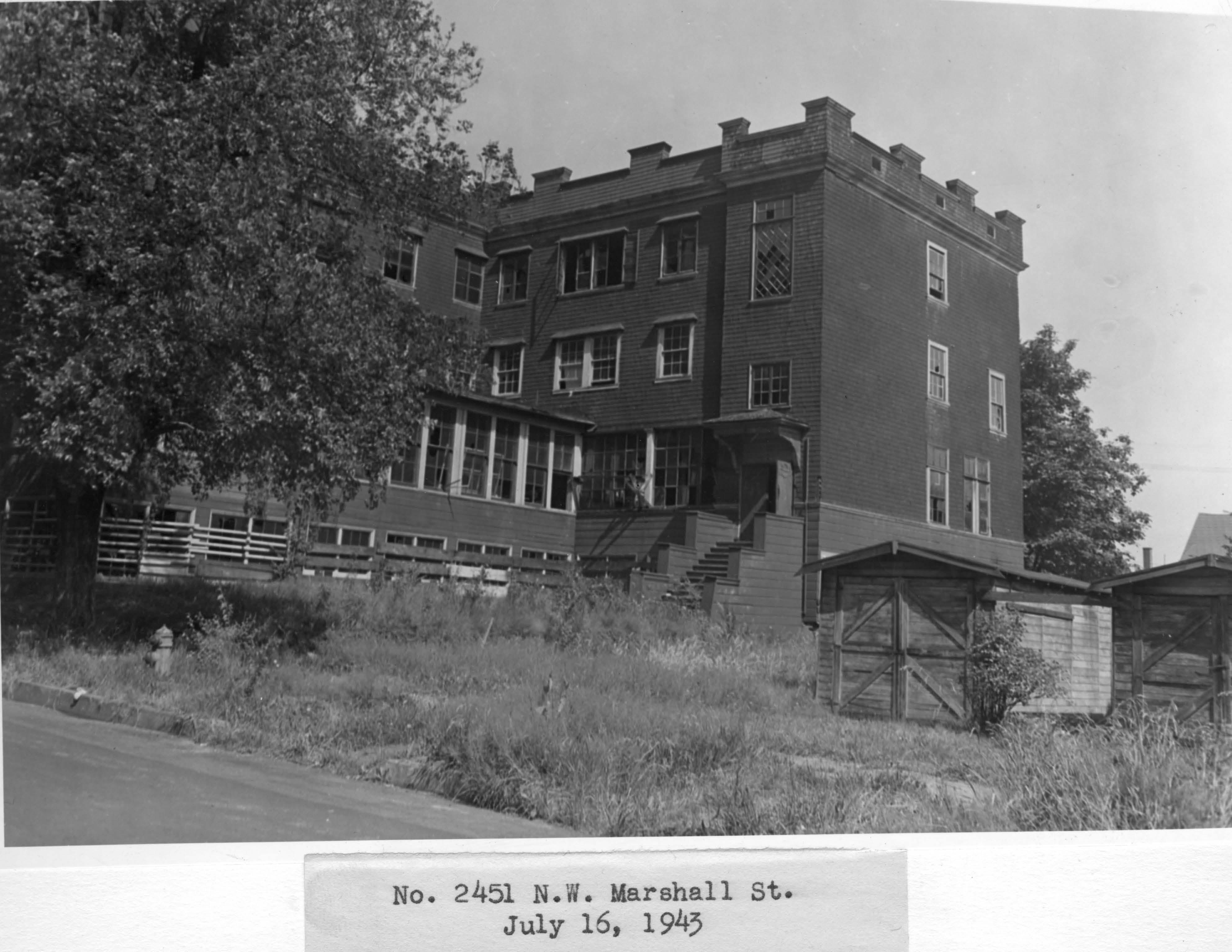 Building Demolition Portland : Hill military academy vintage portland