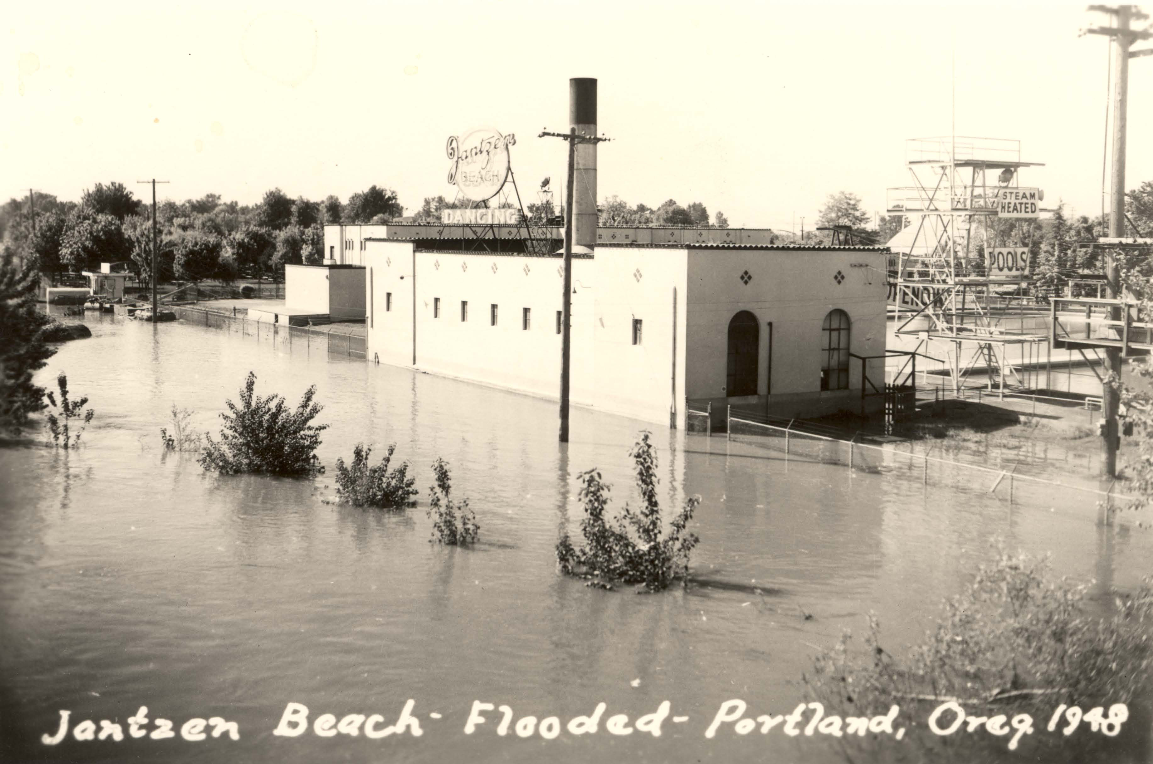 Jantzen beach flood 1948 vintage portland - Florida building code public swimming pools ...