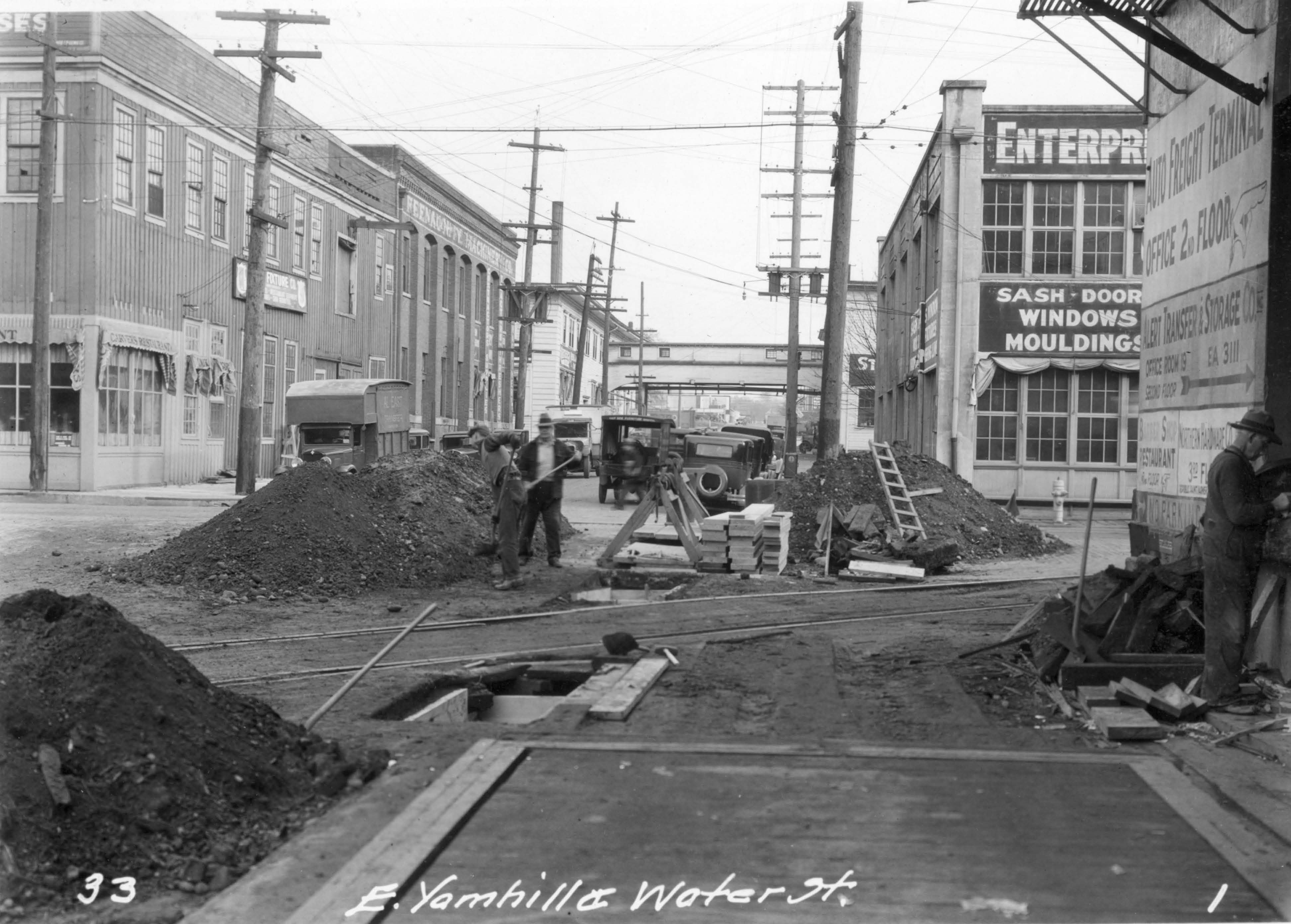 Sewer Repair SE Yamhill and Water 1931