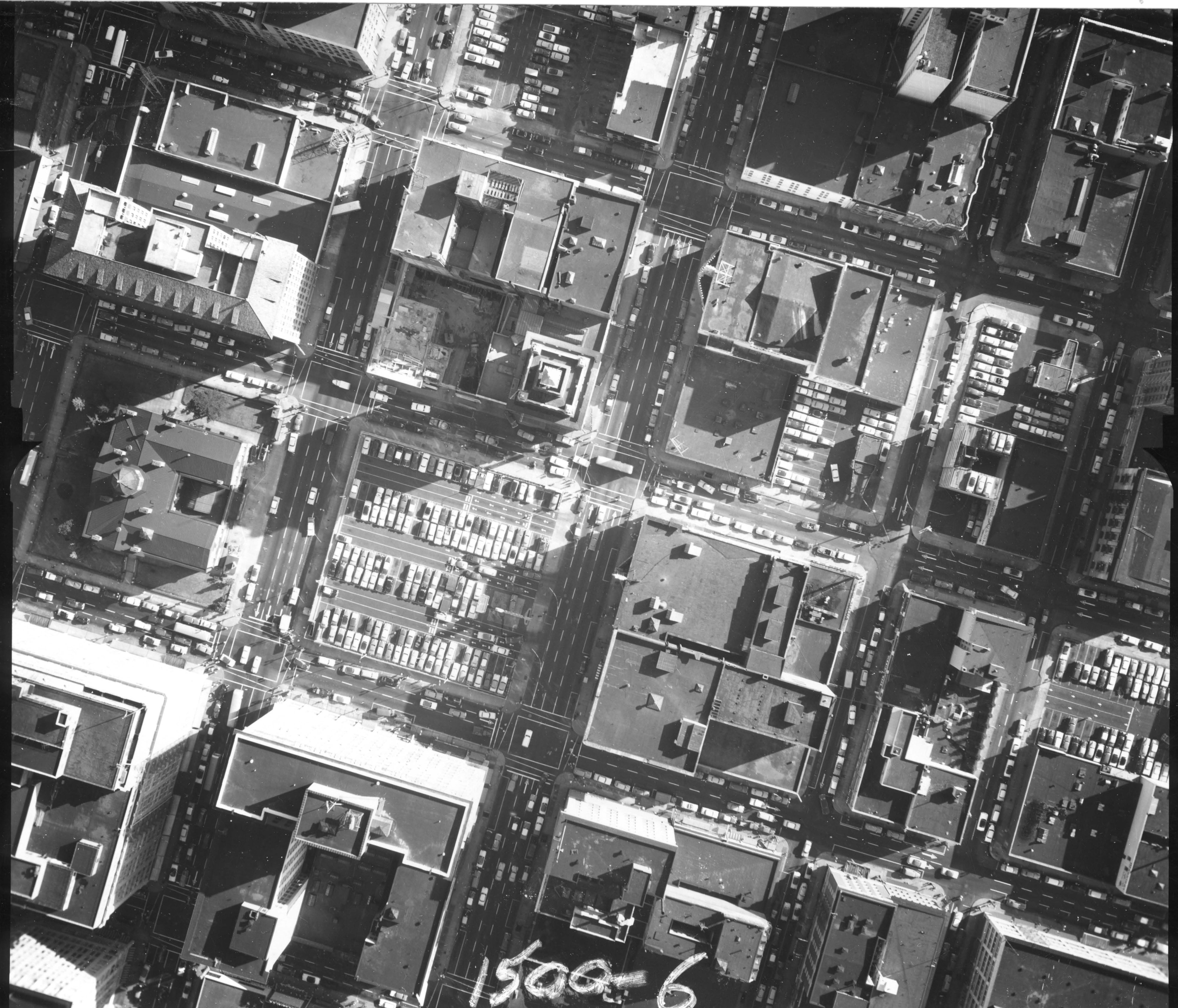 Aerial View SW Broadway 1960