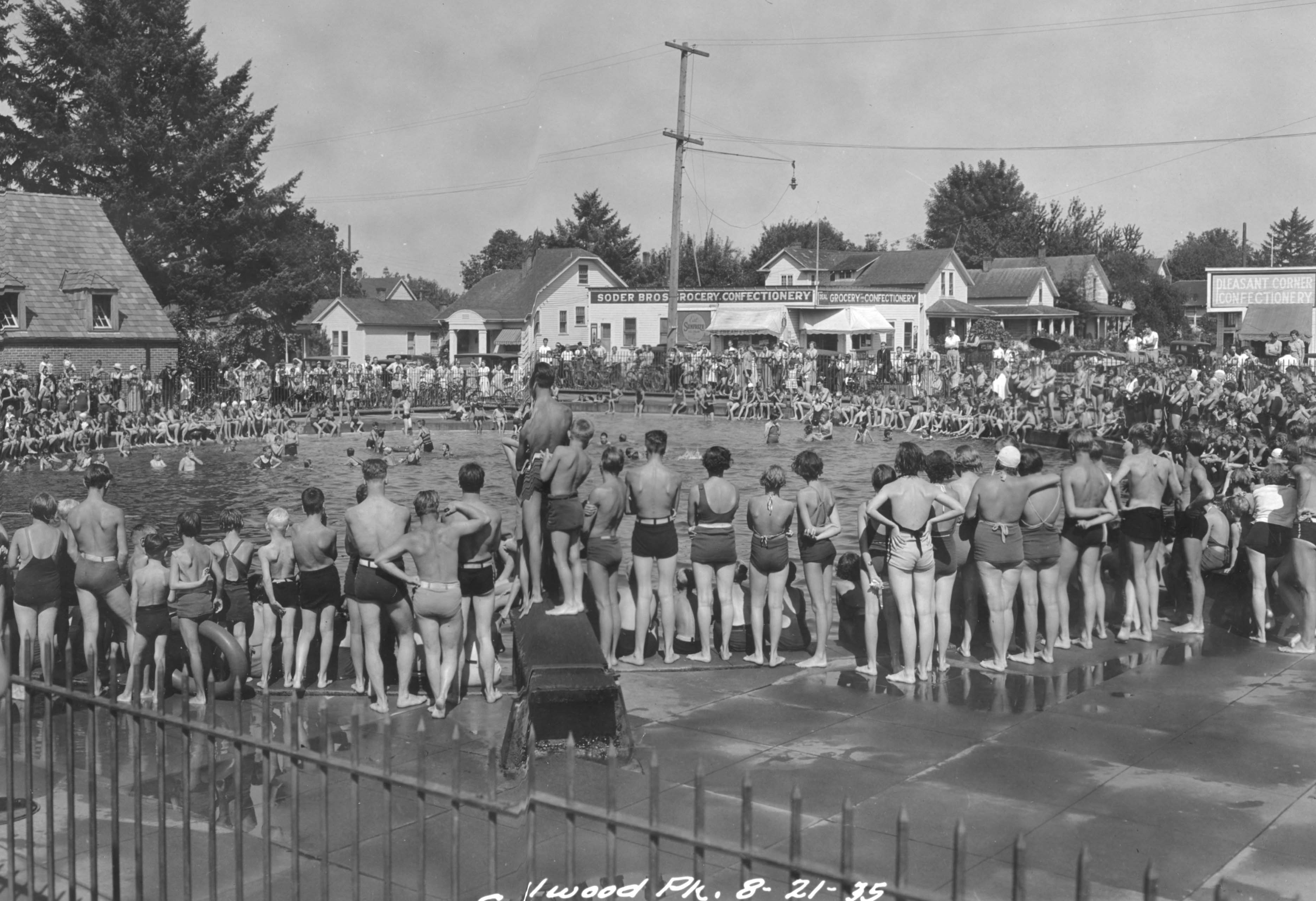 Sellwood park swimming pool 1935 vintage portland Clifton high school swimming pool