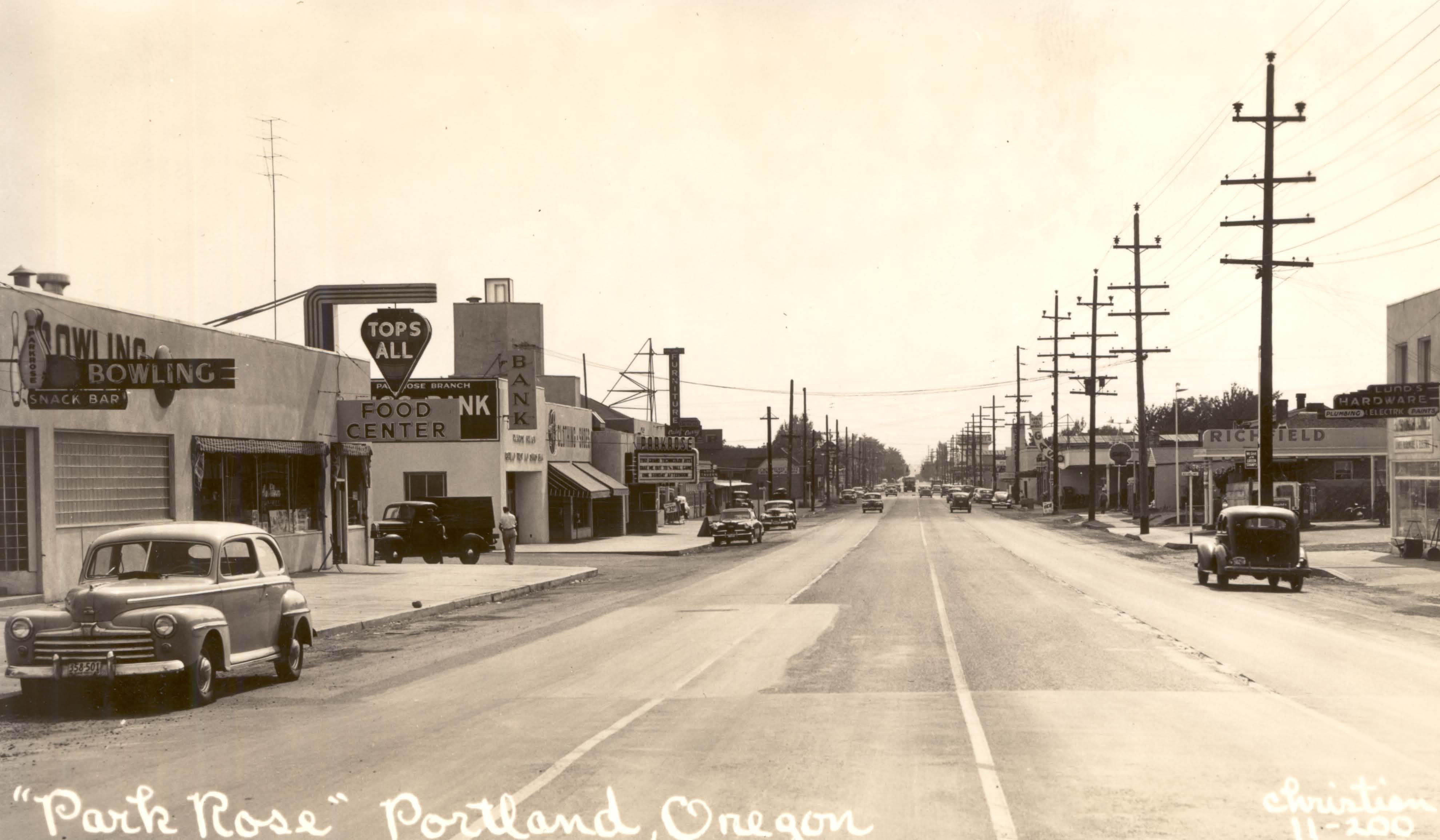Parkrose 1949 Vintage Portland