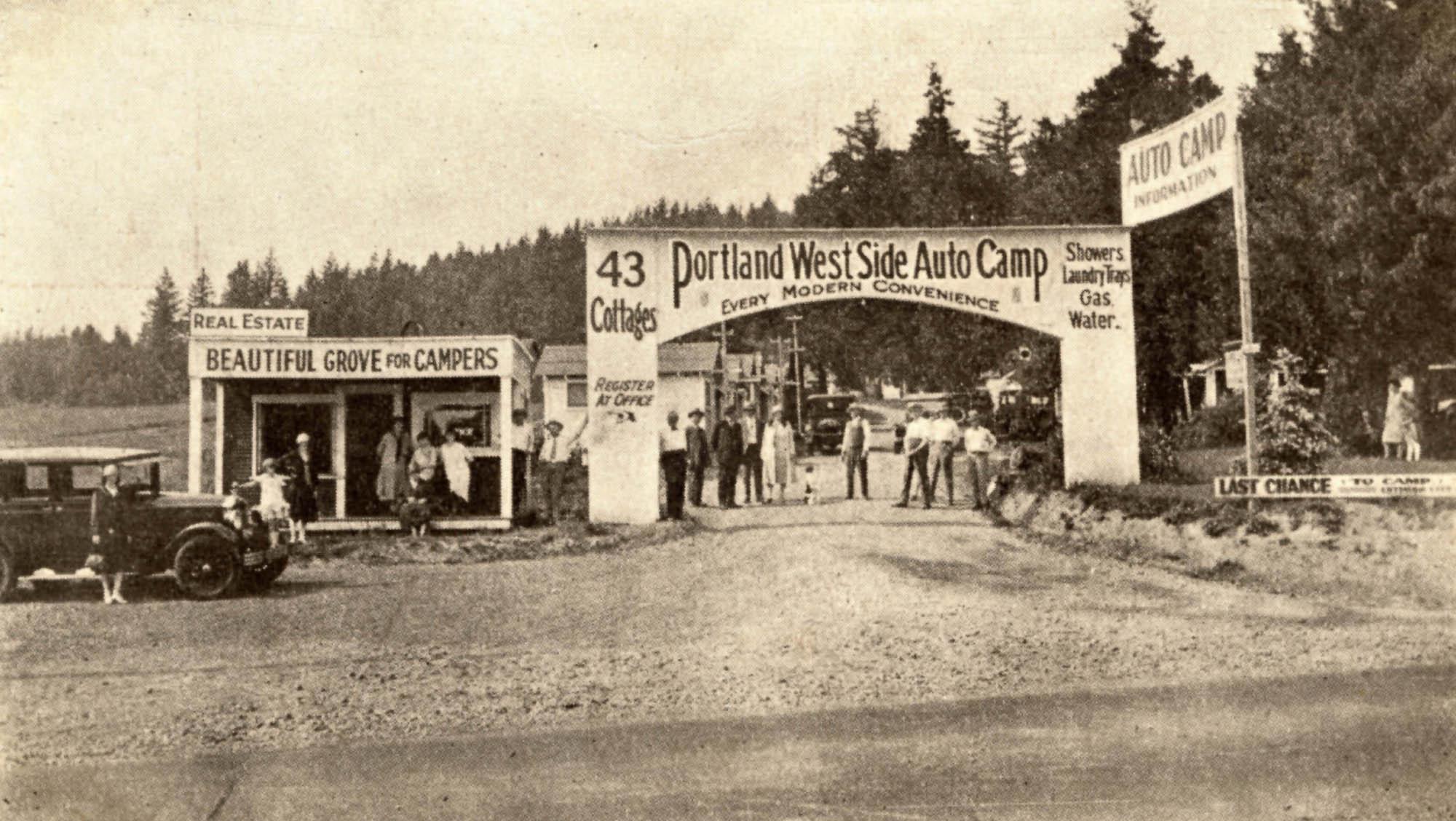 Maine Auto Mall >> Portland West Side Auto Camp, 1925 | Vintage Portland