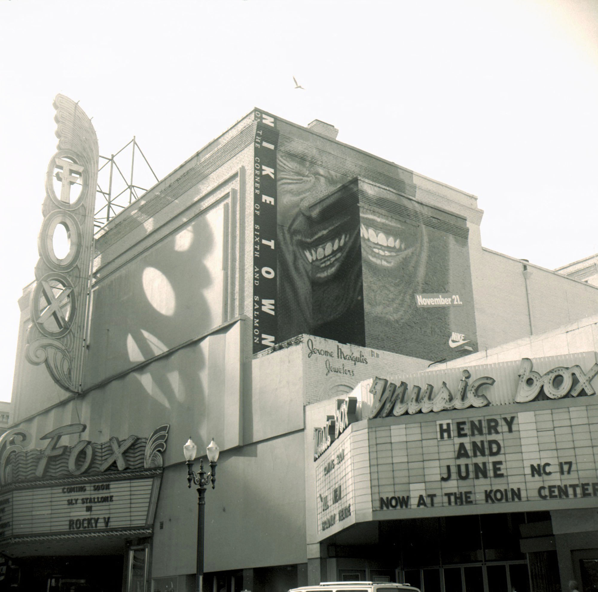 fox amp music box theaters 1991 vintage portland