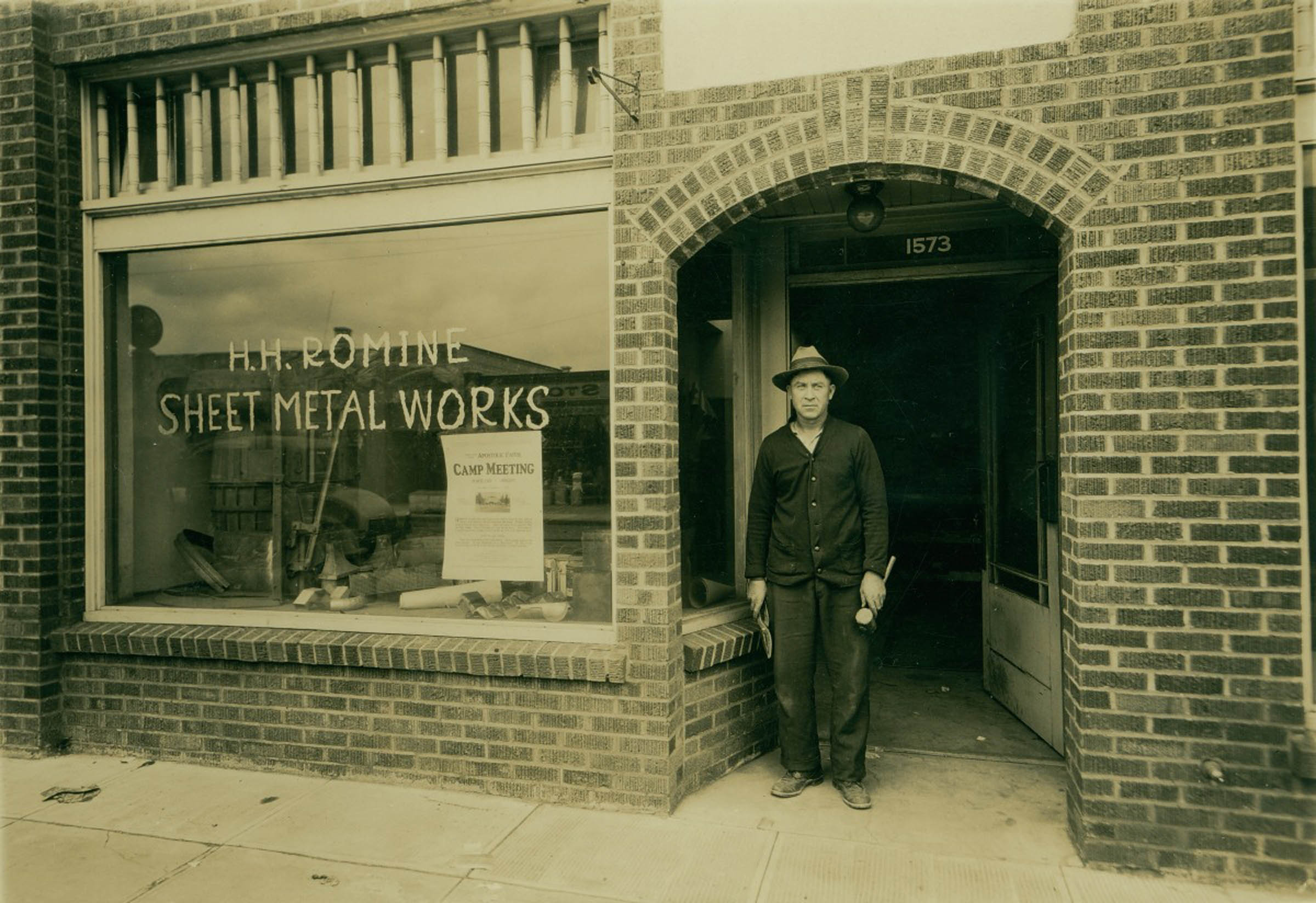 Hh Romine Sheet Metal Works 1931 Vintage Portland