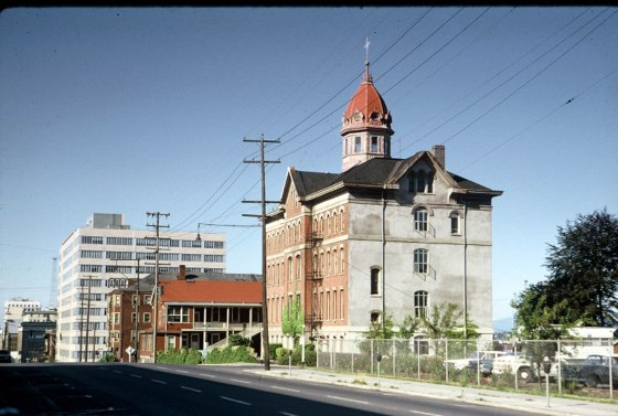 About 1965 St Marys Academy School Building 5th and Mill Looking North Portland by Dad
