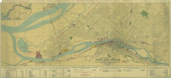 PARC - Industrial Map of Portland 1924 5k