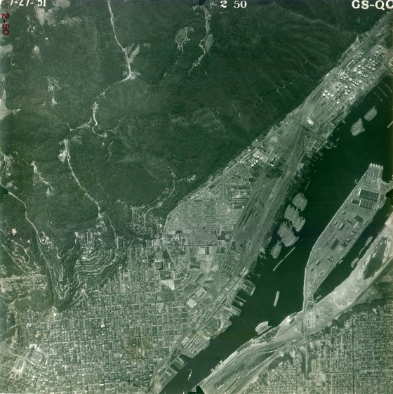 A2010-002.614   Aerial photo map of NW Portland area 1951
