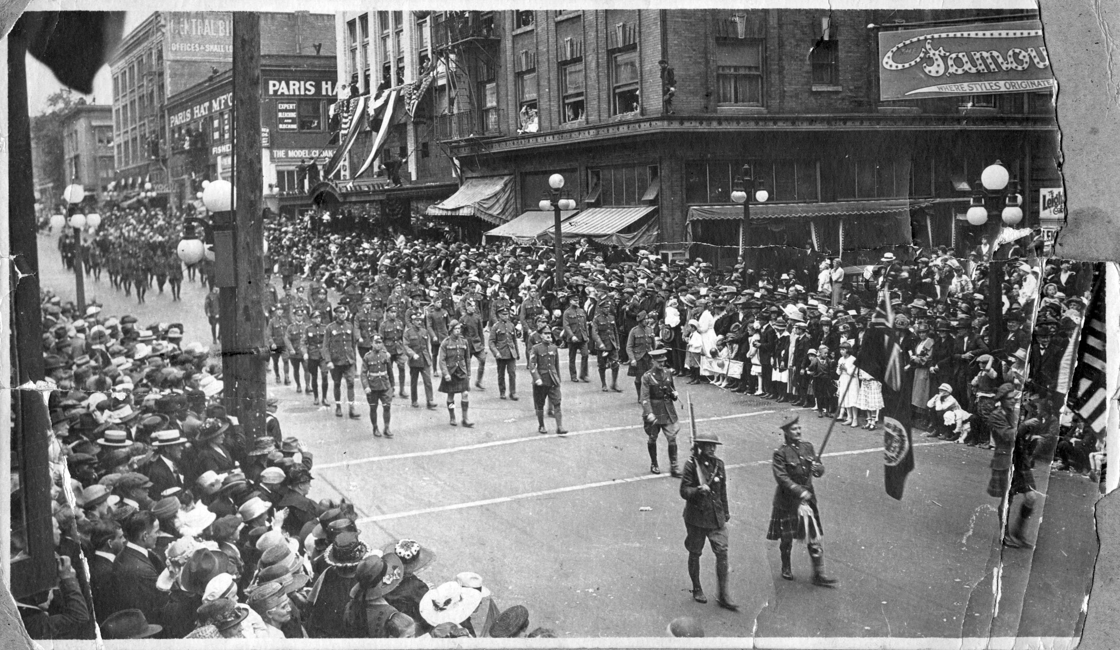 Armistice Day Parade 1919 Vintage Portland