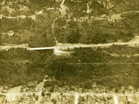 A1999-004.535   Aerial view of Barbur Blvd at SW Slavin Rd 1932 4k