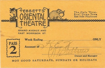 oriental theater pass