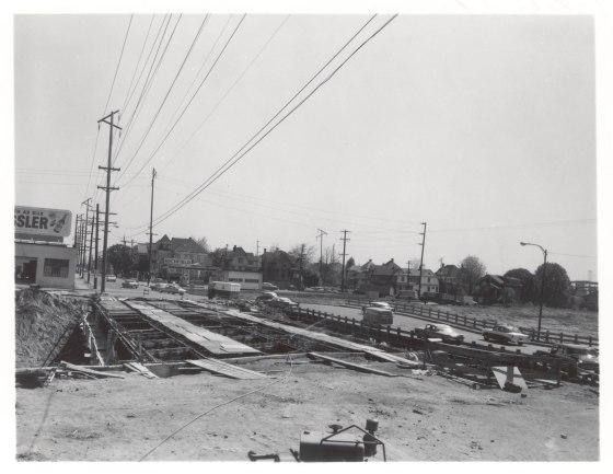 A2005-001.176  Eastbank Freeway overpass construction 1962