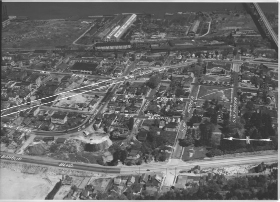 A2010-001.91   Aerial view of SW waterfront 1938