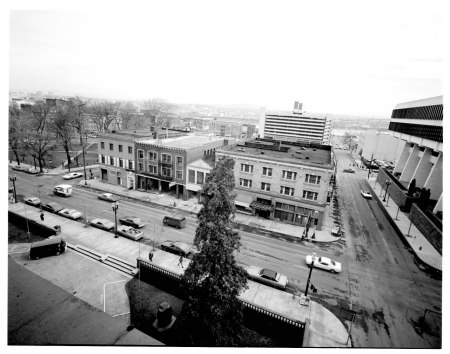 Buildings on SW 4th Ave east of City Hall 1973