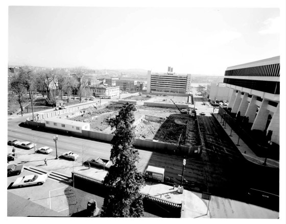 Federal building site [Schrunk Plaza] 01 1973