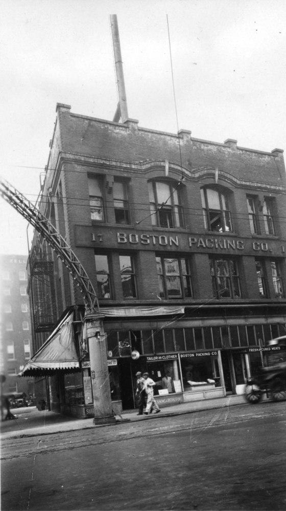 Northwest corner of Ash and 3rd 1928