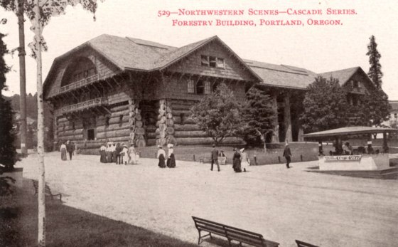 A2004-002.2 Forestry Building during the Lewis and Clark Exposition 1905