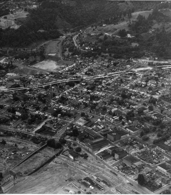 A2010-001.93 Aerial of SW Portland c1938