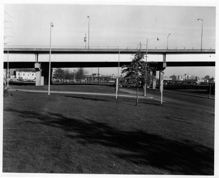 A2000-006.196 SW Front north from south of Morrison Bridge 1970
