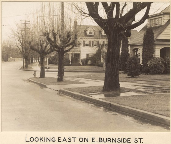 A2005-001.1027  E Burnside St looking east towards SE 39th Ave 1937