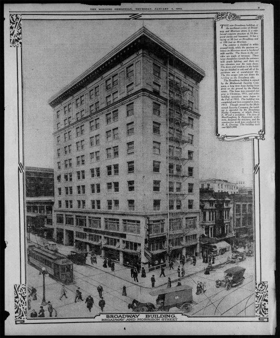broadway building 1914
