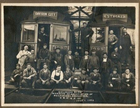 sellwood carbarn 1913