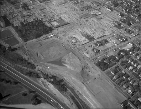 A2010-002.214 Aerial view Lloyd Center construction 1959