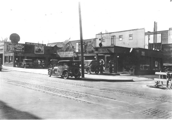 Northwest corner W Burnside and Park 1927