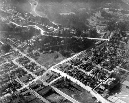 A1999-004.51 Aerial view of SW Portland near the Vista Bridge 1932
