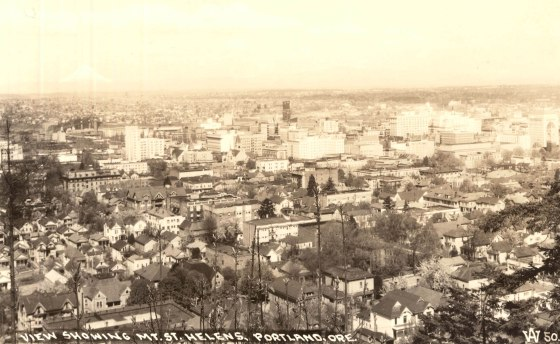 A2004-002.2500 Looking north over Portland from southwest vista 1949