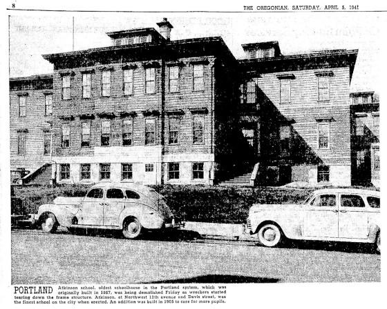 atkinson school demolished 19410405