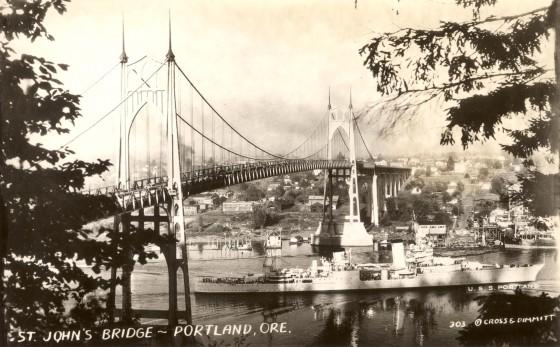 A2004-002.2773 St Johns Bridge looking east 1937