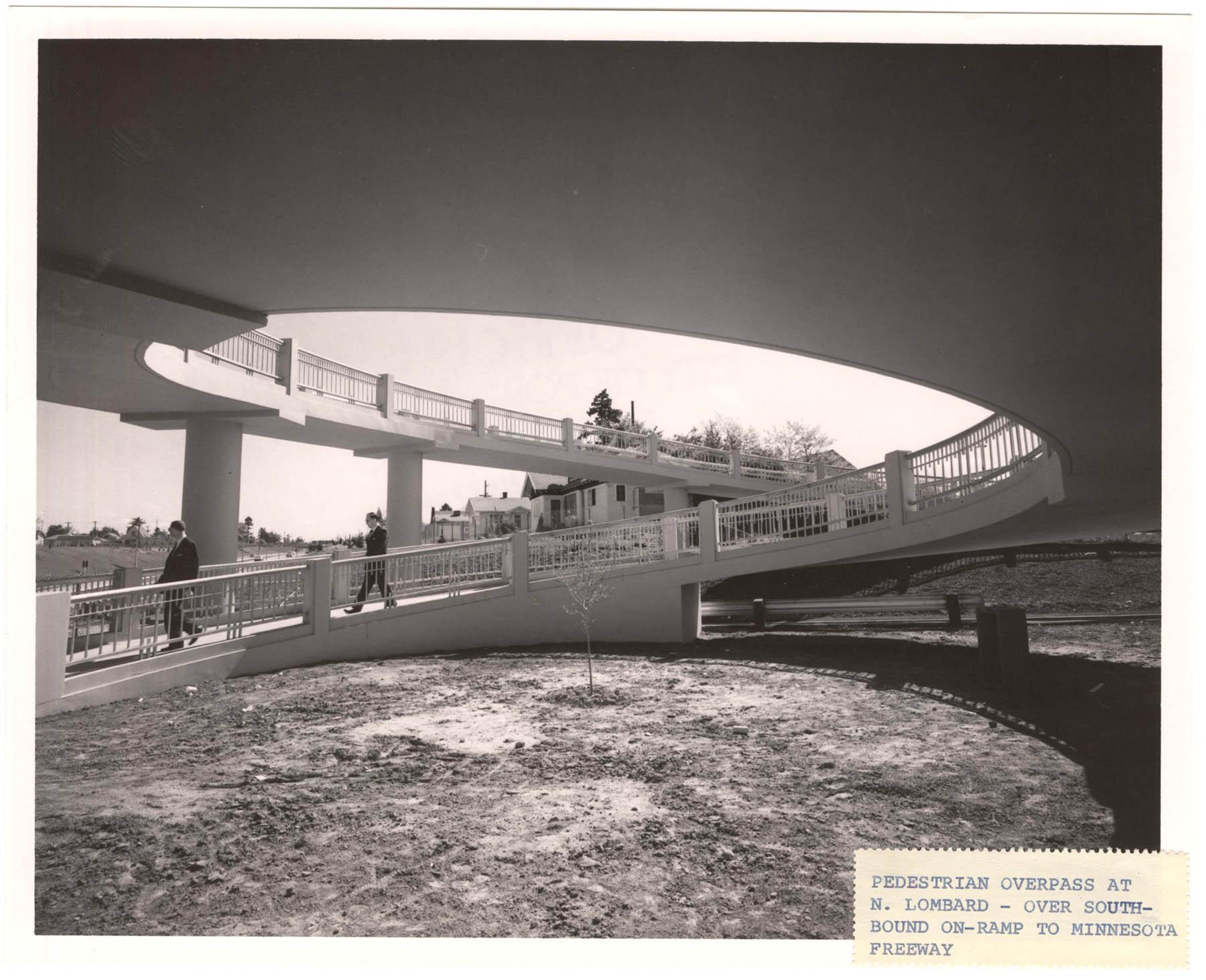 A2005-001.384 N Lombard St pedestrian overpass 1965