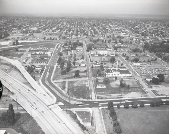 Aerial of Emanuel Hospital north 1974
