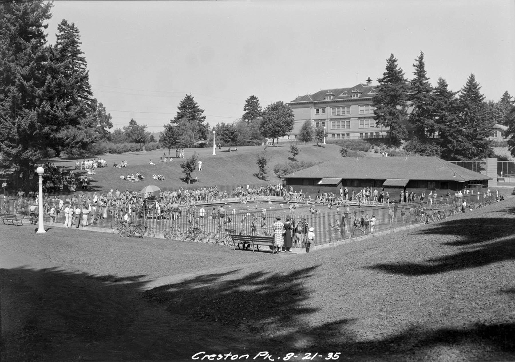Creston park 1935 vintage portland for Public swimming pools portland or