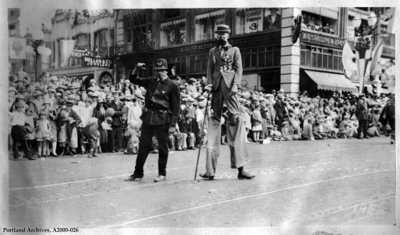 Police Reserve entry into the Rose Festival Merrykhana Parade June 24, 1927 : A2000-026.78