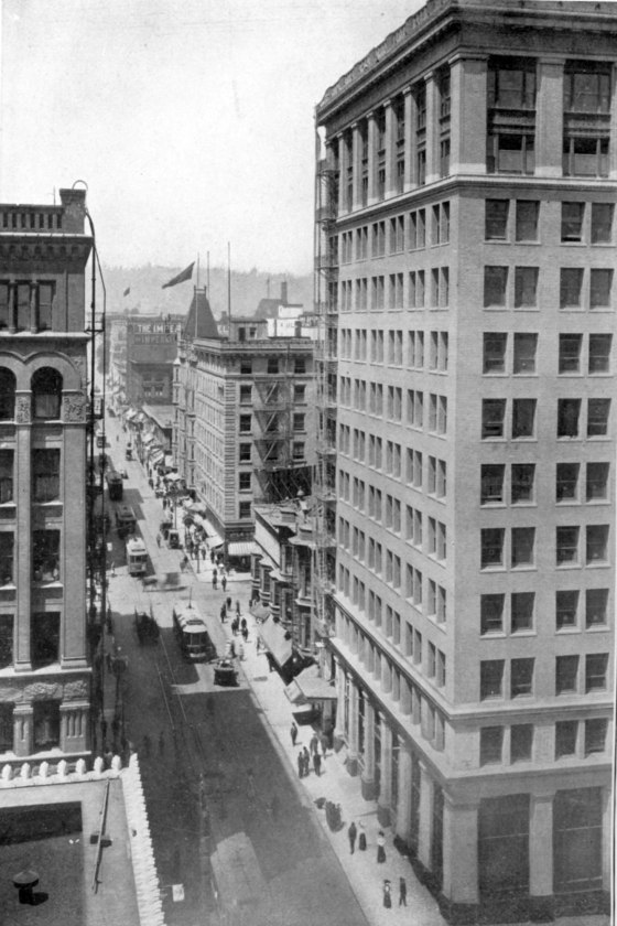 SW Washington looking west from 3rd Ave 1910
