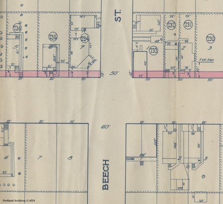 Partial map (3708 NE MLK), 1929 : C 4331