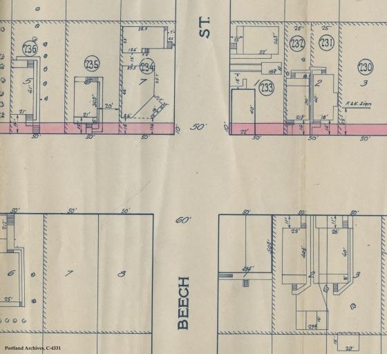 Partial map (3708 NE MLK), 1929 : C 4331