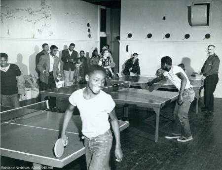 Ping Pong at Knott Street Community Center, circa 1951 : A2001-045.668