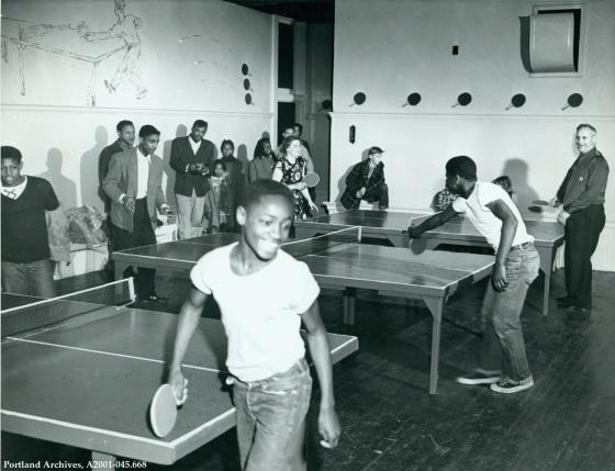 Ping Pong at Knott Street Community Center, circa 1951 : A2001-045.668