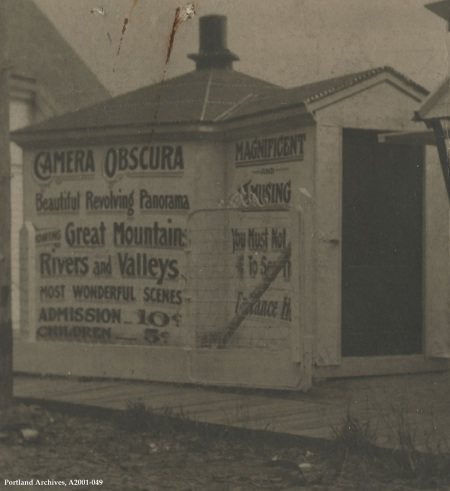 Camera Obscura booth on Hawthorne Terrace, circa 1906 : A2001-049