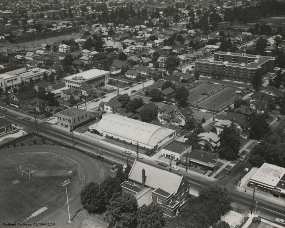Aerial view of Cascade Campus, circa 1969 : A2010-002.205