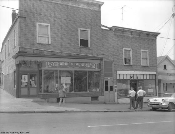 Psychedelic Supermarket storefront, June 18, 1969 : A2012-005