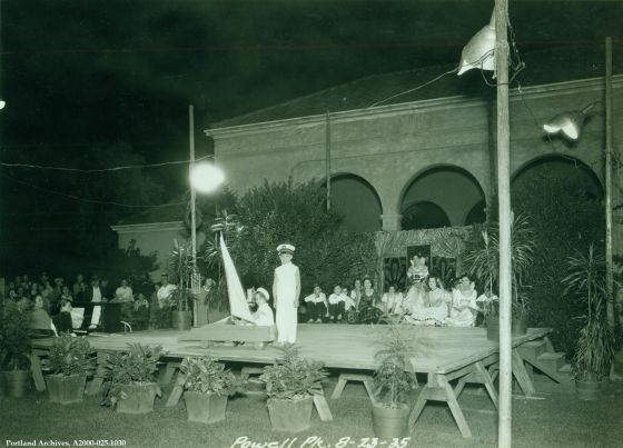 Outdoor performance at Powell Park, Aug. 22, 1935 : A2000-025.1030