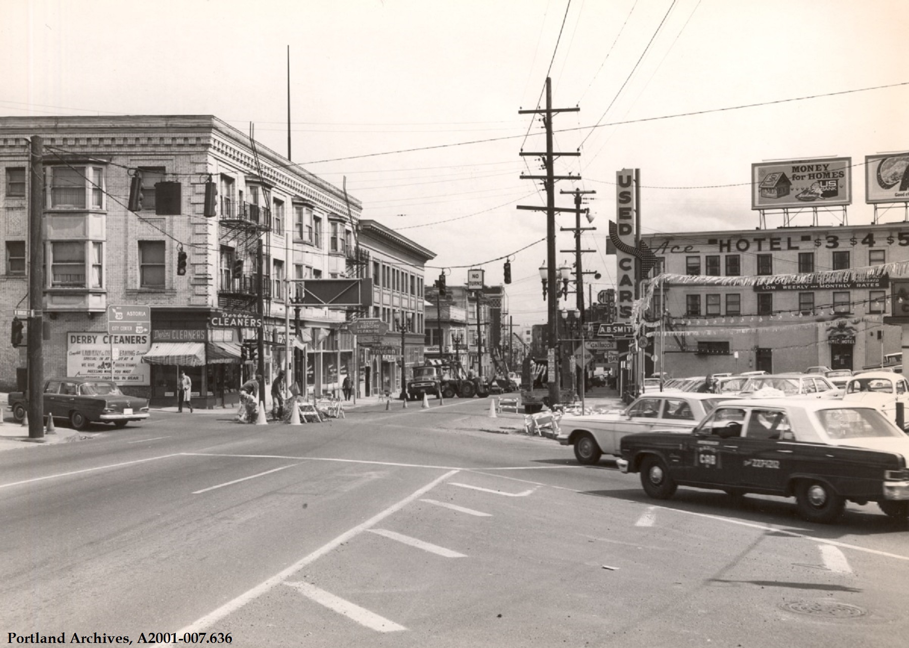Used Cars Portland >> W Burnside Street, 1967 | Vintage Portland