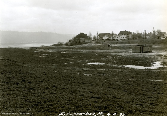 View of Overlook Park fill looking northwest, April 4, 1935 : A2000-025.872