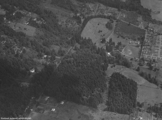 Aerial view, circa 1960: A2010-002.965