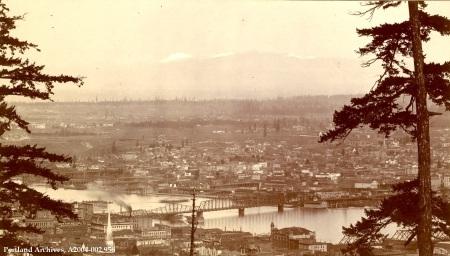 SW Portland looking northeast, circa 1895: A2004-002.956